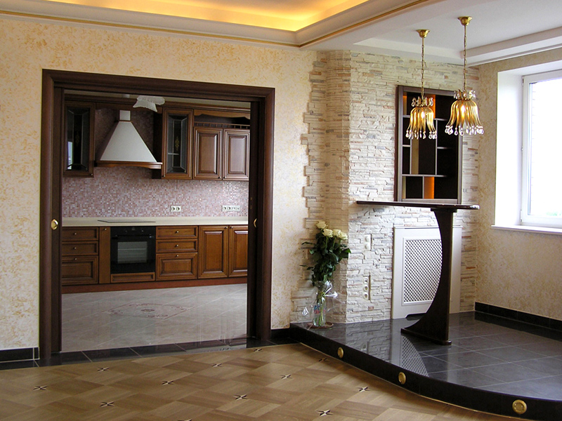 поговорим фото отделка декоративным камнем дверей на кухне кратко, гудаута