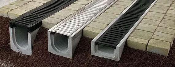 Желоба бетонные для стока воды